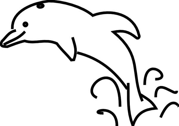 600x422 Dolphins Clipart Black And White