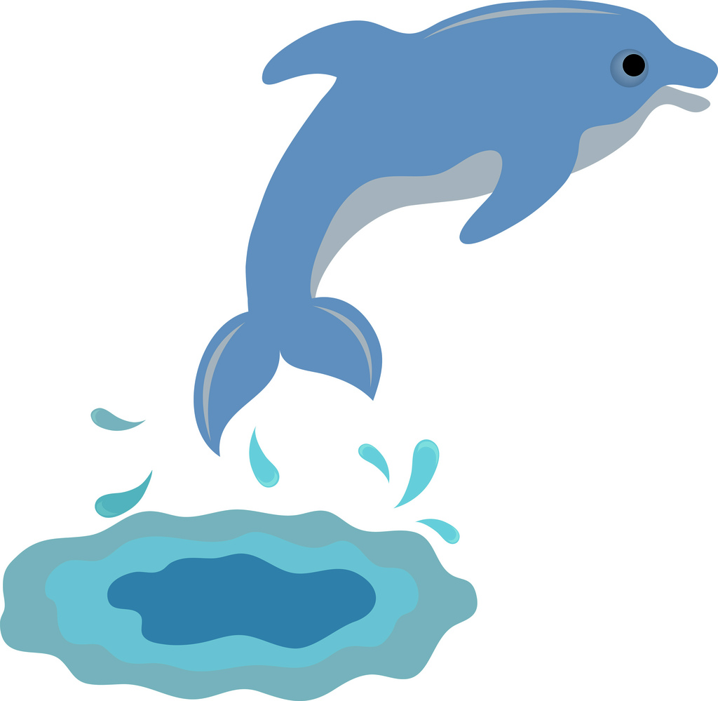 1024x999 Cute Dolphin Clipart