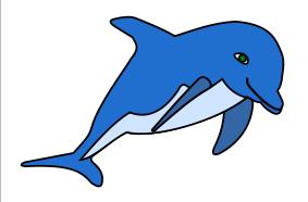 283x186 Dolphin Free Clip Art