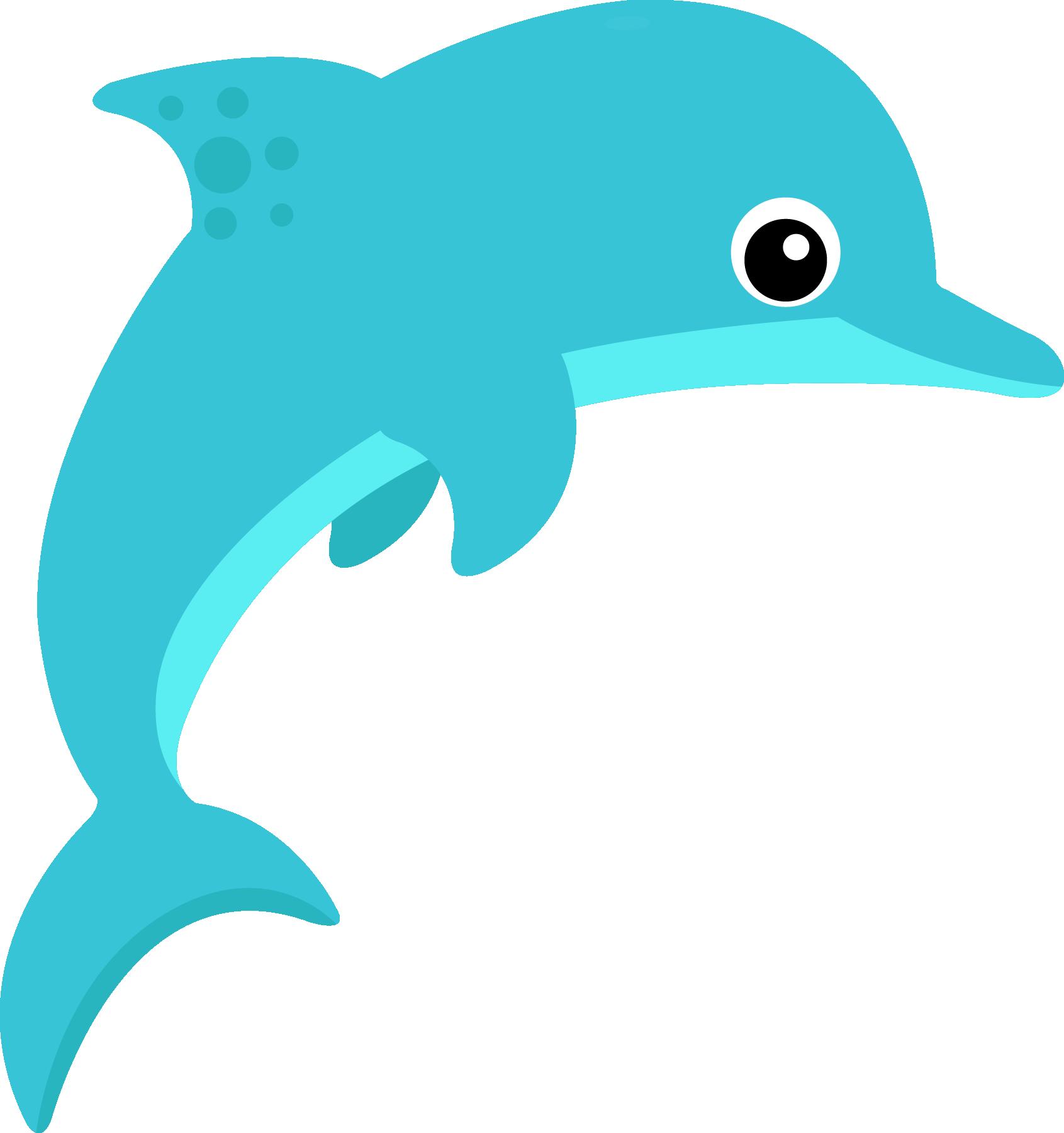 1691x1800 Dolphin clipart ocean life
