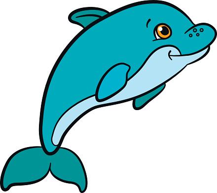 440x391 Dolphin Clipart Kid