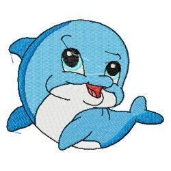 250x250 Cute Dolphin Clipart