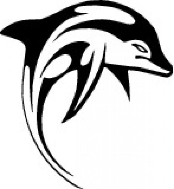 575x626 Dolphin Clip Art Black And White Free Clipart Panda