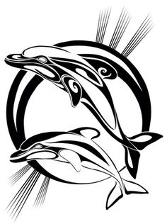 236x316 Dolphins Out Of Water Tattoo Design