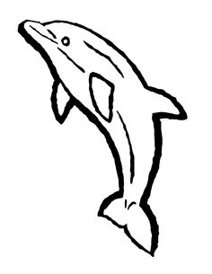 236x305 Free Dolphin Clipart Black And White