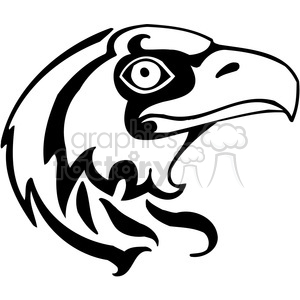 300x300 Royalty Free Hawk Design 385480 Vector Clip Art Image