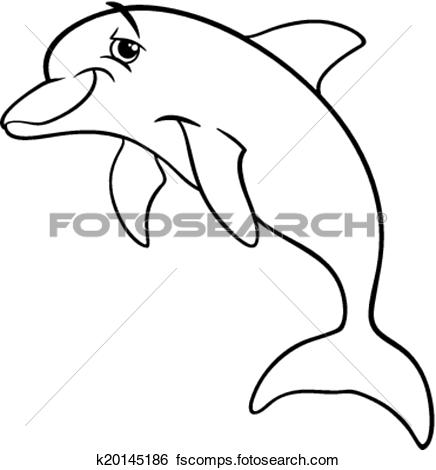 436x470 Clip Art Dolphin Animal Cartoon Loring Book Fotosearch Search