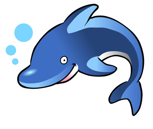 590x497 Dolphin Clip Art Black And White Free 5