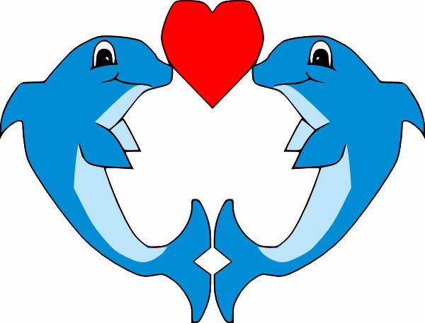 600x457 Free Simple Blue Dolphin Clip Art