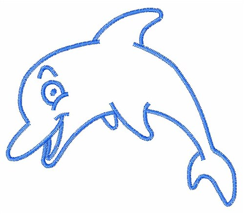 500x439 Best Dolphin Outline