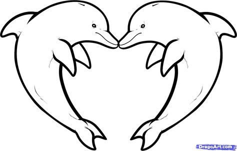 474x303 Dolphin Heart Drawing Out Lines Step 10. How To Draw Love
