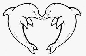 300x196 Download Coloring Pages Draw A Dolphin Coloring Pages