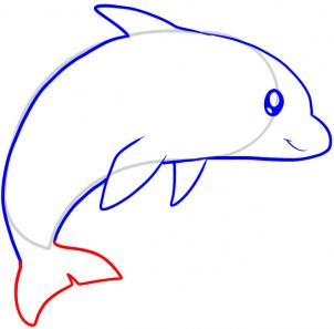 302x297 How To Draw How To Draw A Dolphin For Kids