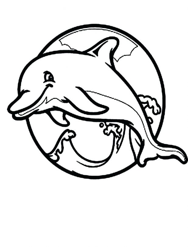 618x811 Coloring Pages Dolphins Printable Pictures Inside Dolphin 141