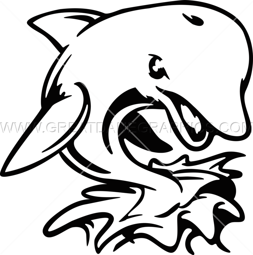 825x830 Angry Dolphin Production Ready Artwork For T Shirt Printing