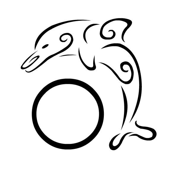 600x600 41 Best Dolphin Outline Tattoo Images Diy, Aqua