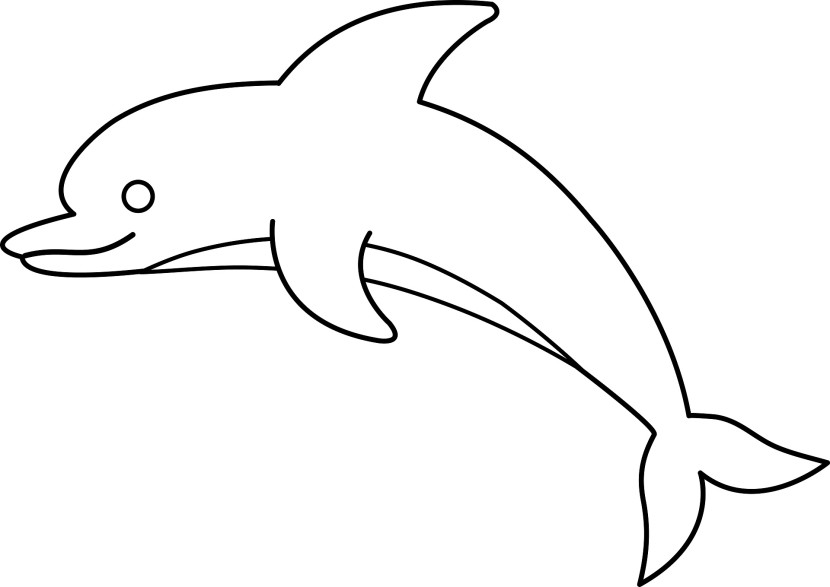 830x587 Dolphin Outline Cliparts