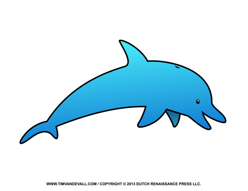 500x386 Free Dolphin Clipart, Printable Coloring Pages, Outline Amp Silhouette