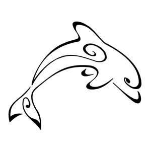 300x300 Best Dolphin Outline
