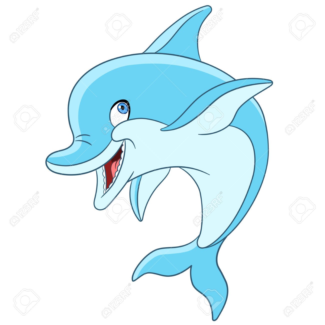 1300x1300 Dolphin Clipart Happy
