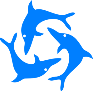 298x291 Jumping Dolphins Clip Art