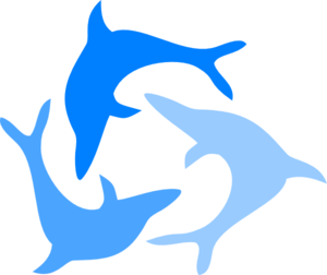 300x252 Light Blue Dolphin Clip Art
