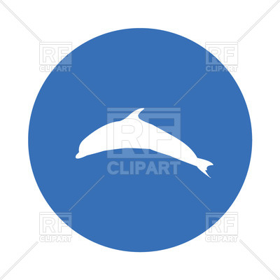 400x400 Silhouette Of Dolphin Free Vector Clip Art Image