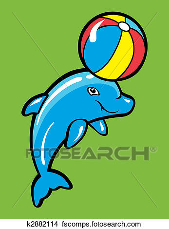 347x470 Clipart Of Baby Dolphin K2882114