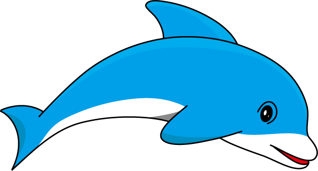 633x341 Clipart Of Dolphins