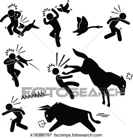 450x469 Clip Art Of Domestic Animal Attacking Human K18386797