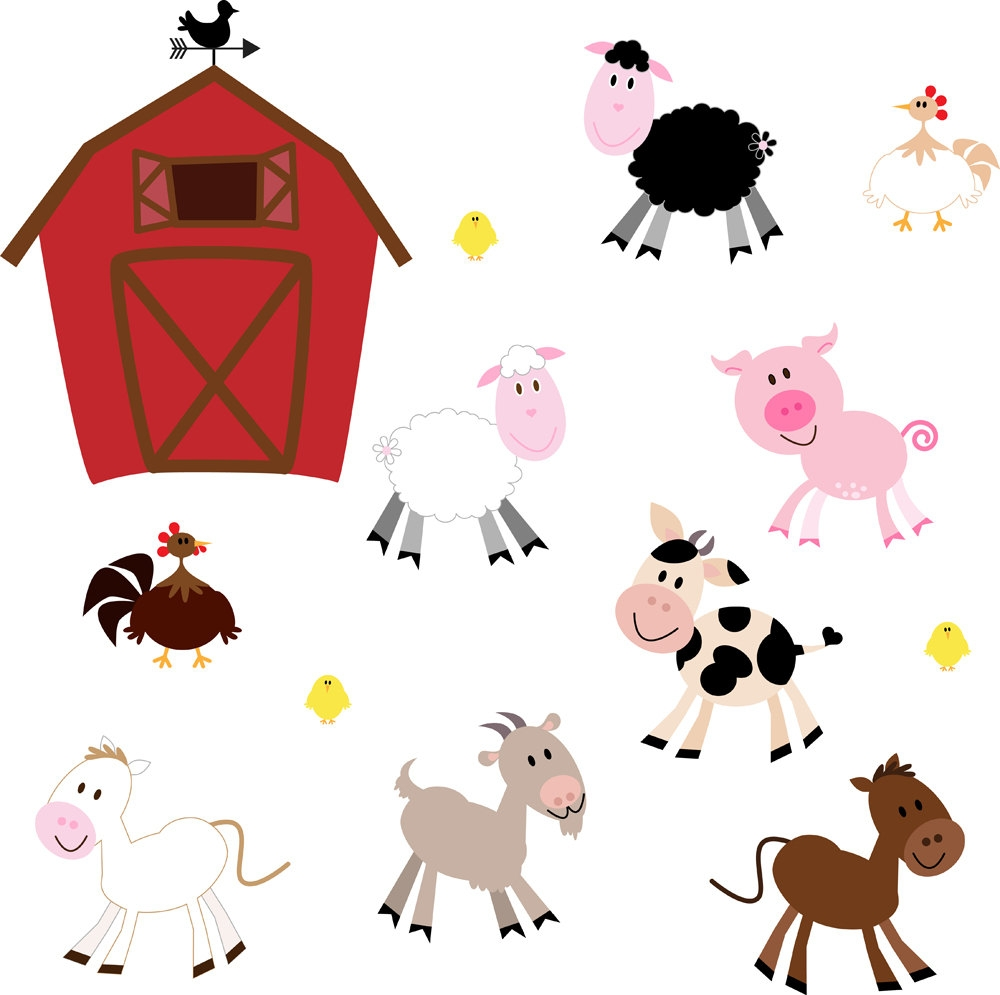 1000x995 Clipart Images Of Domestic Animals