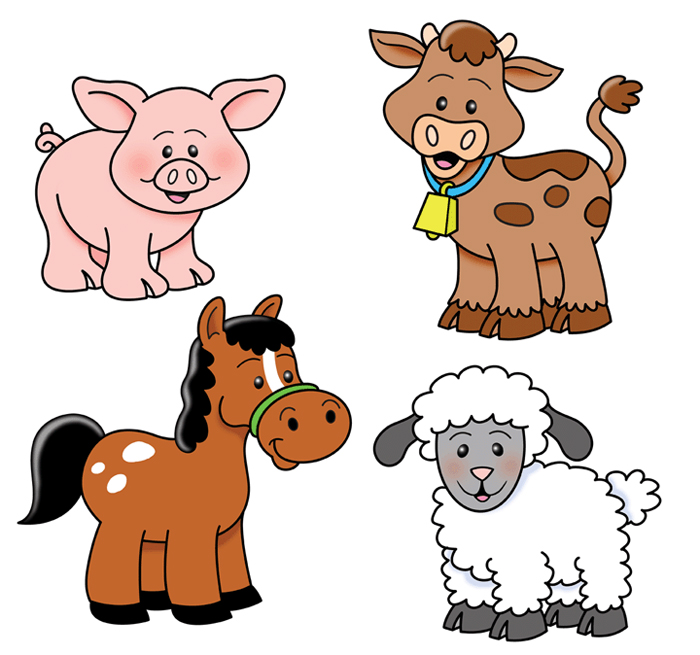 700x655 Farm Animals Clipart