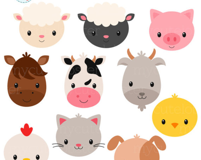 680x540 Farm Animal Clipart Farm Animal Head Clipart Animal Head