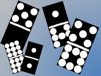 350x263 Black Domino Double 9 Clip Art Set By Schoolboxtreasures Tpt