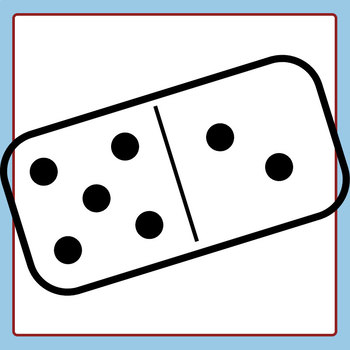 350x350 Dominoes Black And White Line Art Set Clip Art Set For Commercial Use