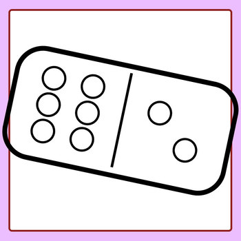 350x350 Dominoes For Coloring In Clip Art Set For Commercial Use By