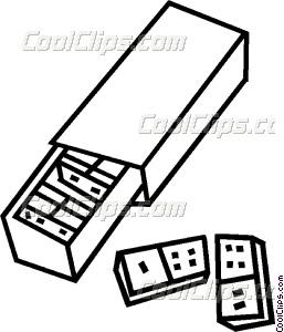 257x300 Dominoes Vector Clip Art