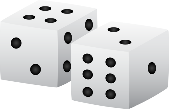 550x355 Black And White Playing Dice