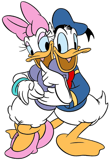 375x547 Donald Amp Daisy Duck Clip Art Disney Clip Art Galore