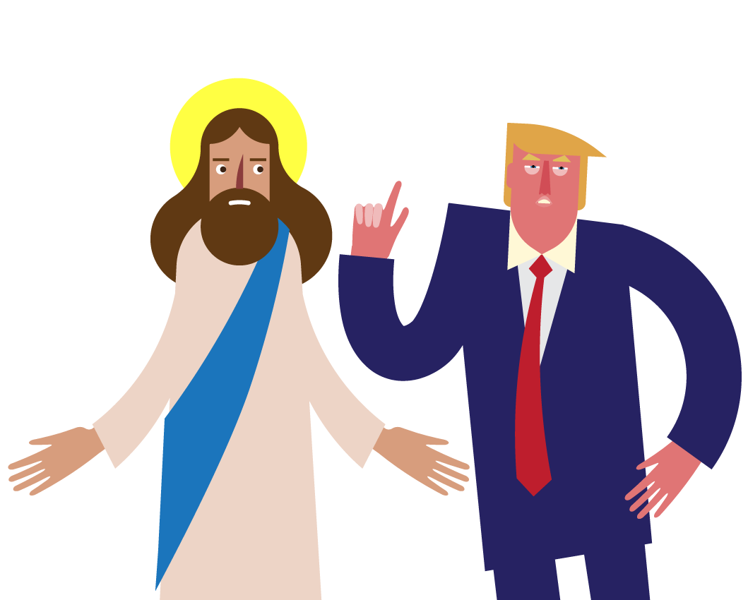 1059x850 Jesus Christ Reacts To Donald Trump In New Animated Film