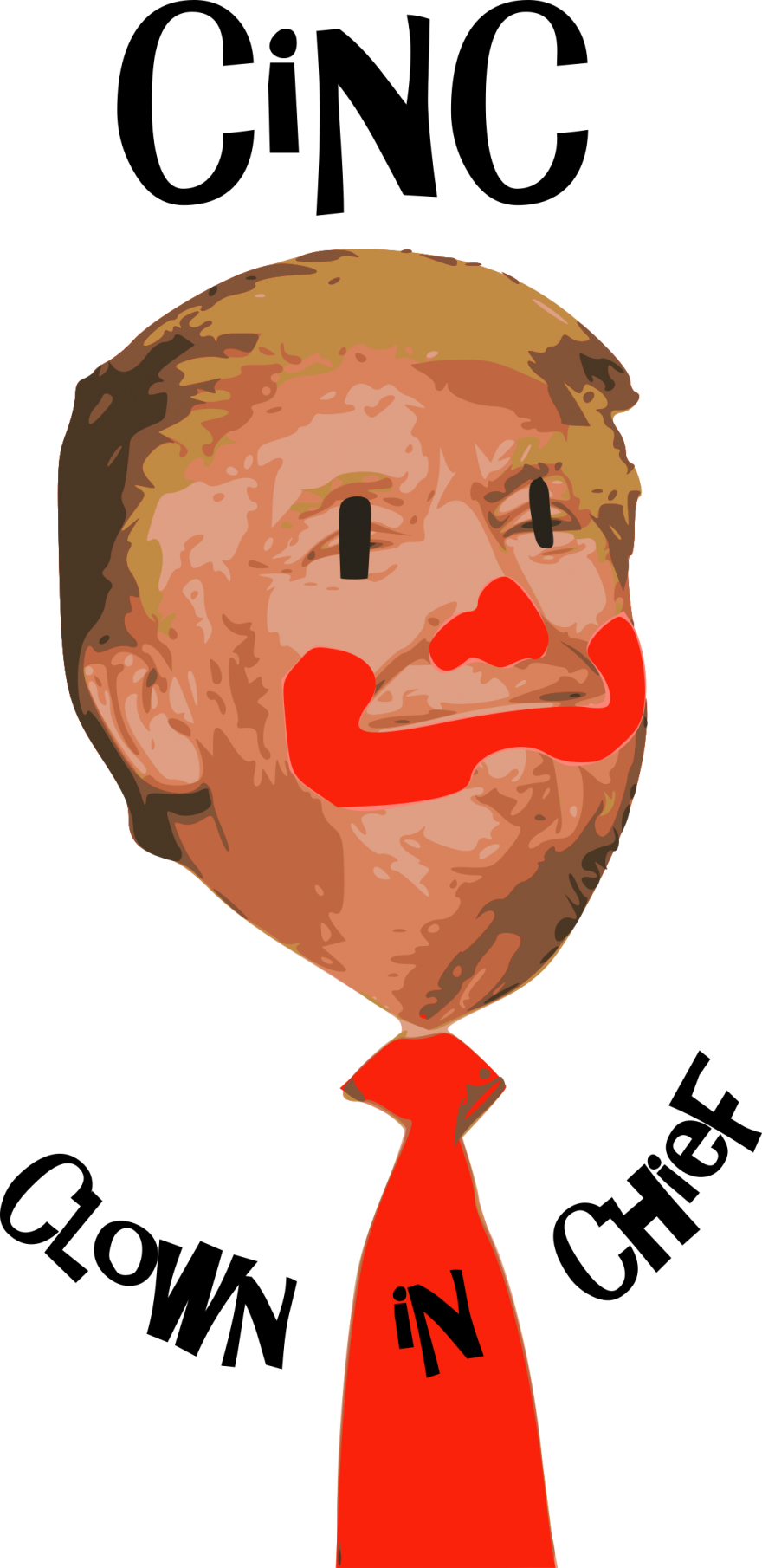 880x1810 Clown In Chief, Donald Trump Face Vector Clipart Clown In Chief