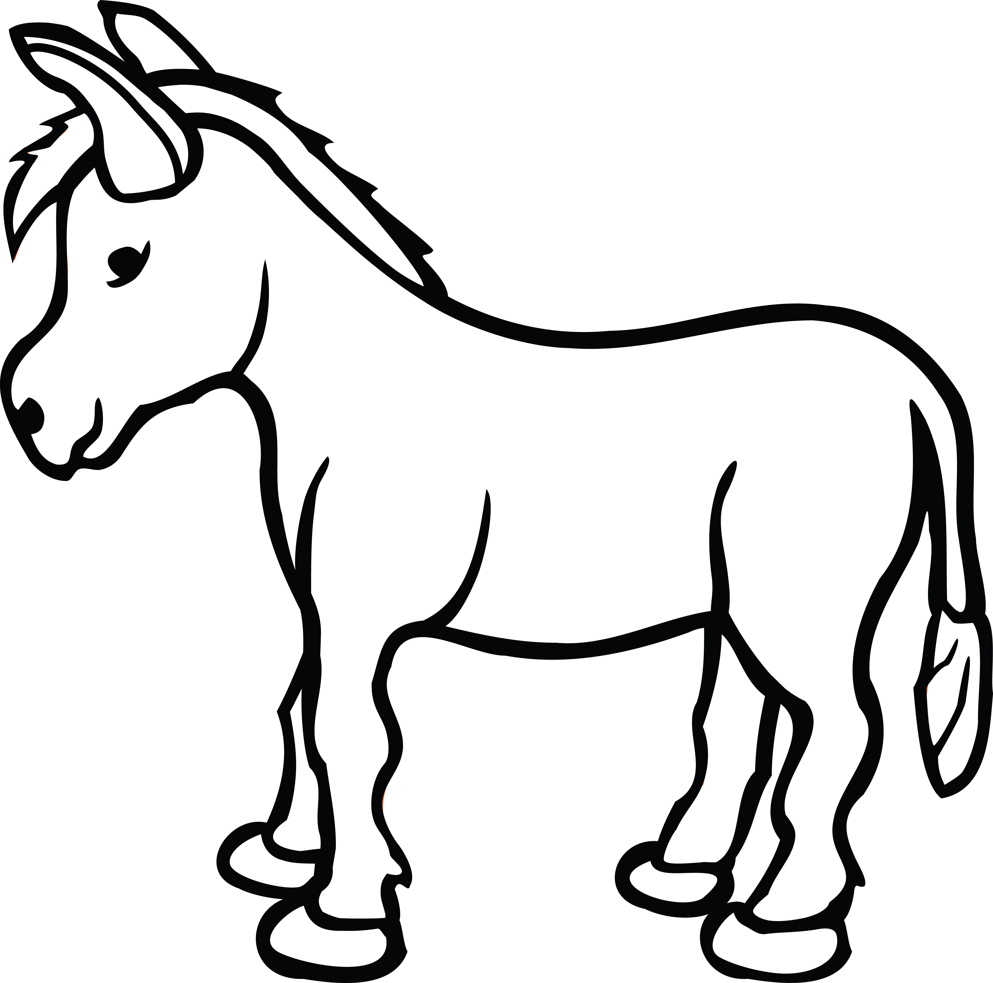 4000x3957 Clipart Of A Donkey