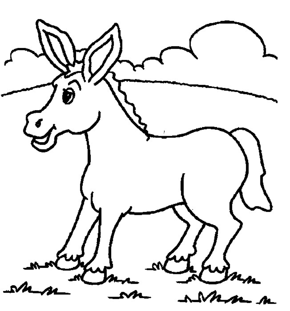 950x1020 Coloring Pages Animals Free Donkey Coloring Pages Donkey