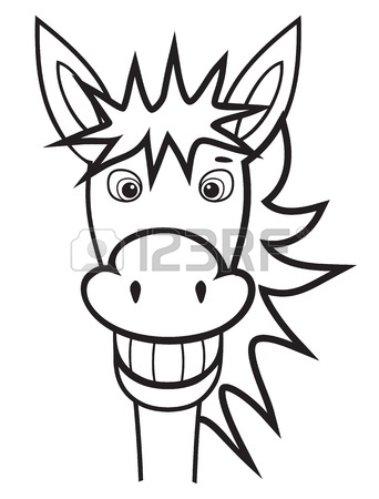 342x450 Donkey Black And White Royalty Free Cliparts, Vectors, And Stock