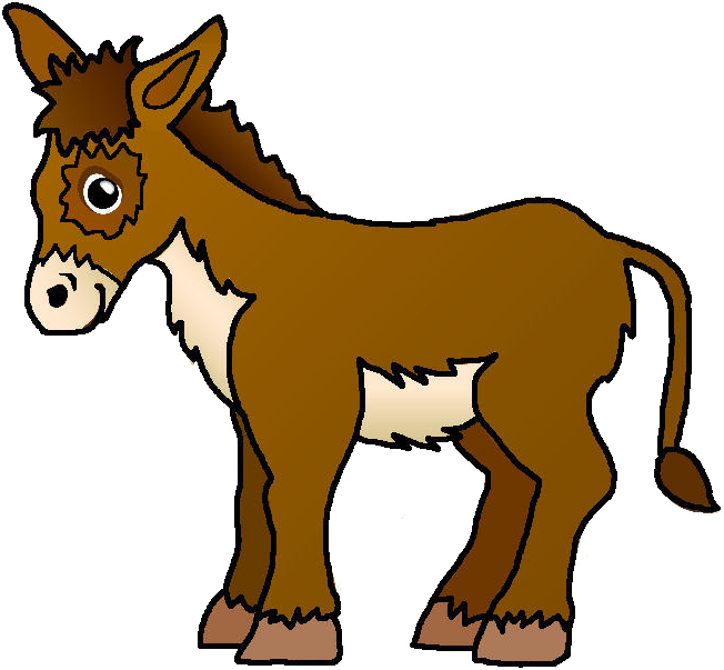652x603 Donkey Clip Art Black And White Free Clipart Images Image