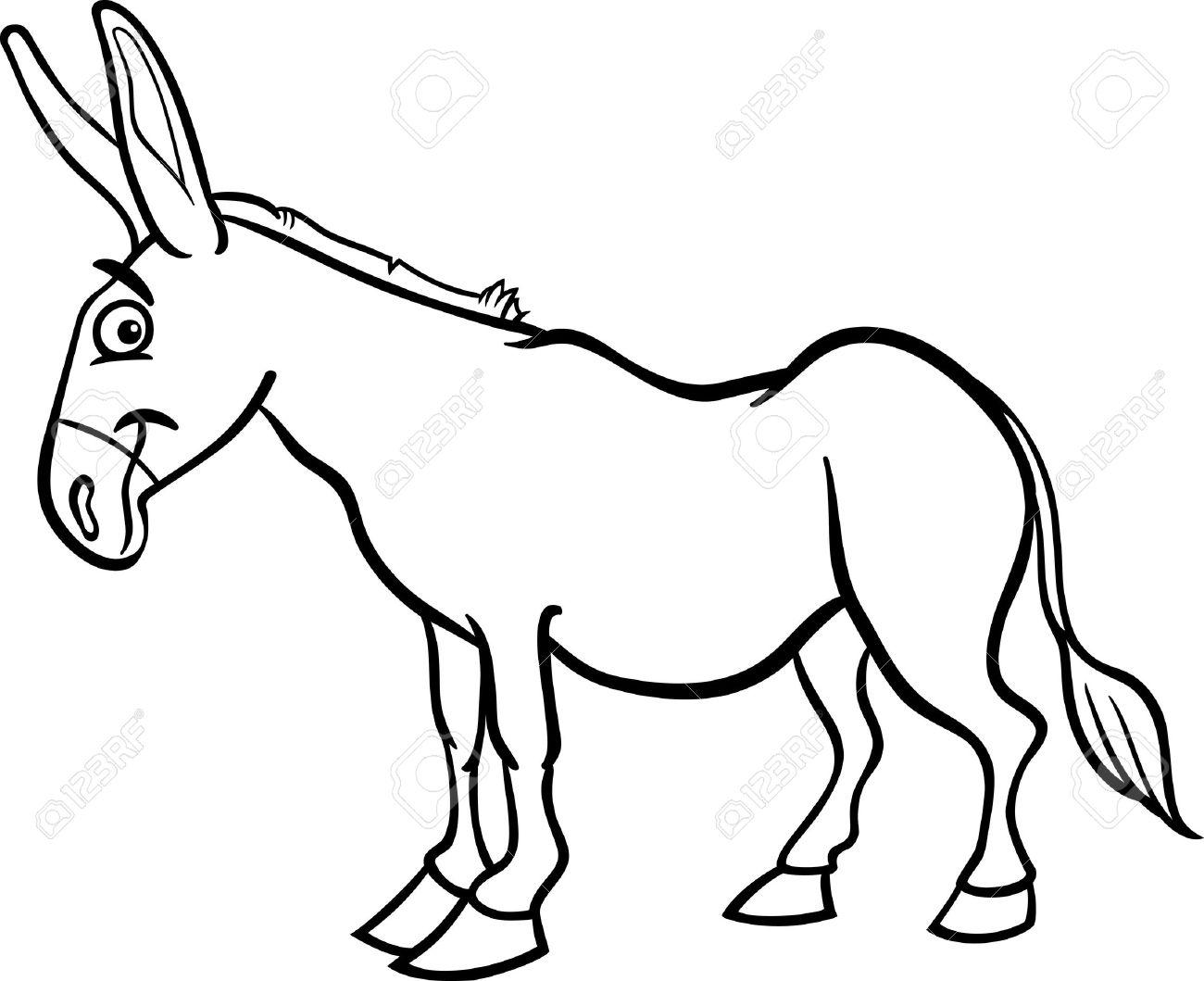 1300x1059 Donkey Clipart Black And White