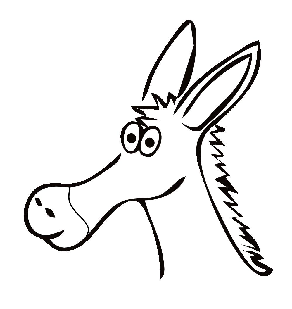 999x1057 Drawn Donkey