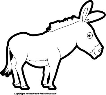 365x326 Drawn Donkey Black And White