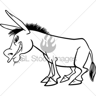 325x325 Farm Donkey Cartoon For Coloring Book Gl Stock Images