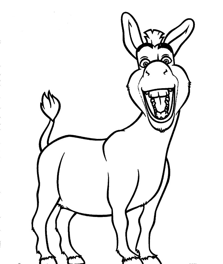 900x1066 Free Coloring Pages Of Donkey From Shrek Disney Characters